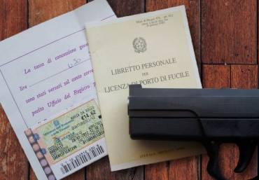 Modulo rilascio: porto d'armi – nulla osta – licenza collezione